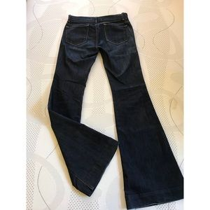 Pre-owned, dark blue J Brand Bell button jeans.